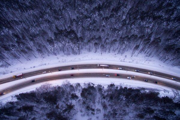 Бердское шоссе в Новосибирске