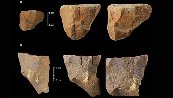 Потенциально древнейшие орудия труда, изготовленные первыми современными людьми 385-172 тысячи лет назад
