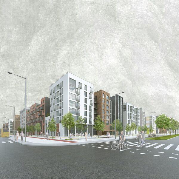 Концепция среднеэтажной застройки Архитектурное бюро План_Б