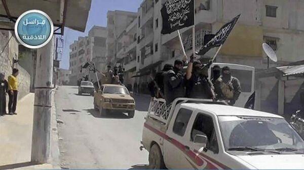 Боевики террористической группировки Джебхат ан-Нусра* (организация запрещена в РФ) в провинции Идлиб