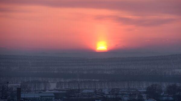 Зимний закат в Ужурском районе Красноярского края