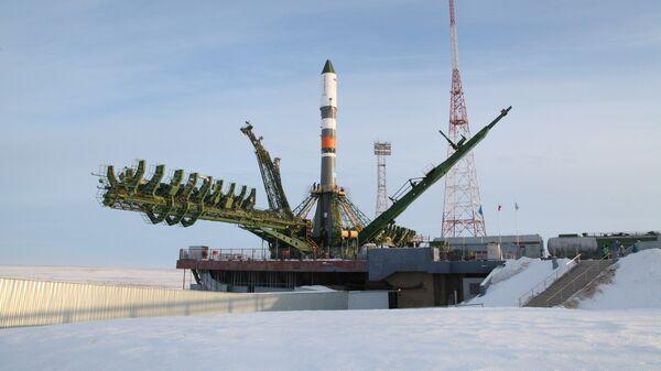 Ракета Союз-2 на космодроме Байконур. Архивное фото