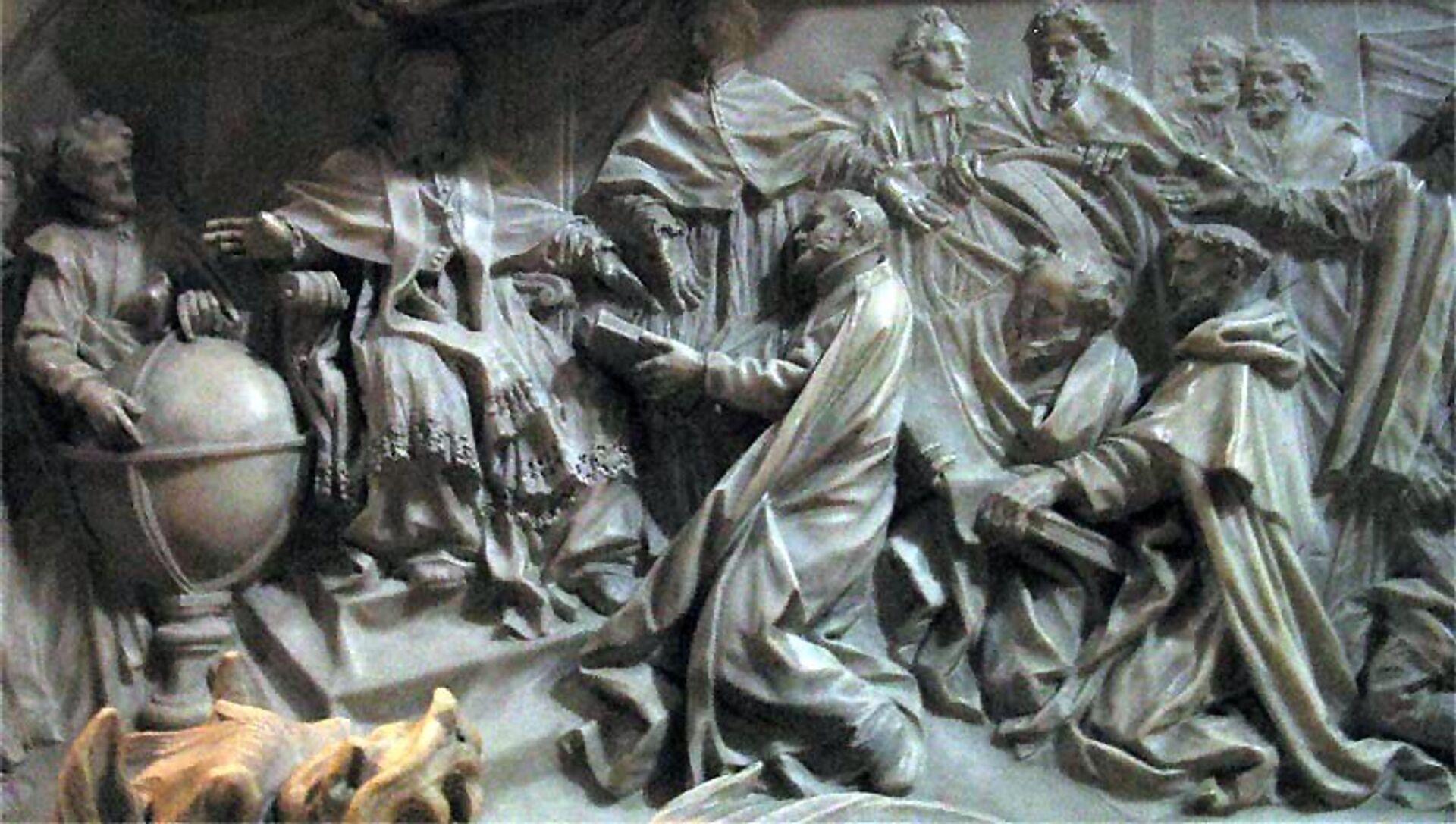 Введение григорианского календаря. Барельеф на могиле папы Григория XIII в Соборе Святого Петра в Риме - РИА Новости, 1920, 14.02.2018