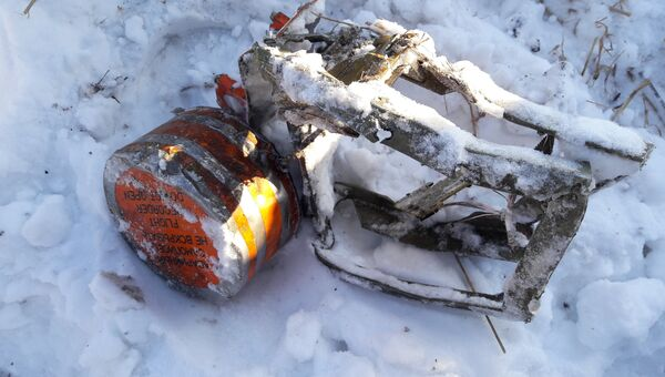 Один из бортовых аварийных самописцев, найденный на месте крушения самолета Ан-148 авиакомпании Саратовские авиалинии