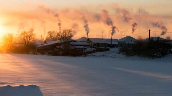 Рассвет в городе Тара Омской области. Архивное фото