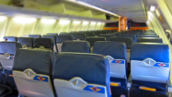Внутри самолета авиакомпании Southwest Airline