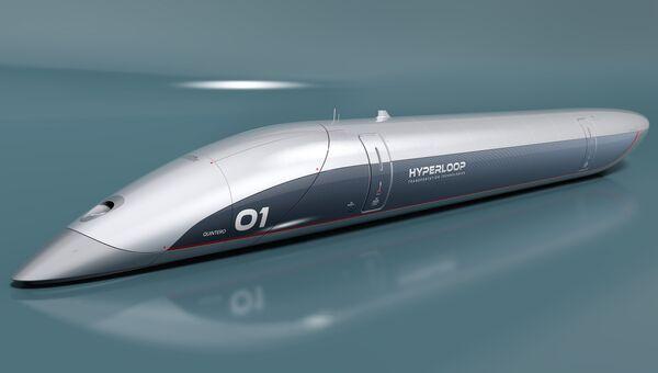 Концепт капсулы Hyperloop Transportation Technologies. Архивное фото