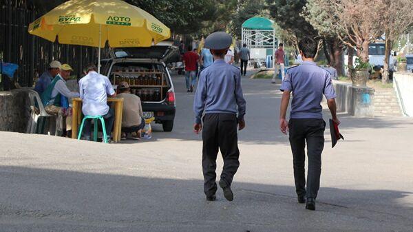 Сотрудники правоохранительных органов Таджикистана