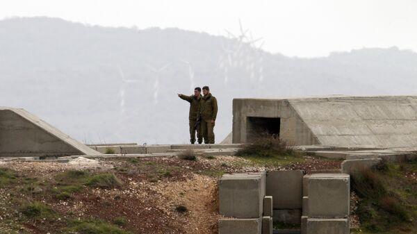 Израильские военные в районе Голанских высот. 11 февраля 2018