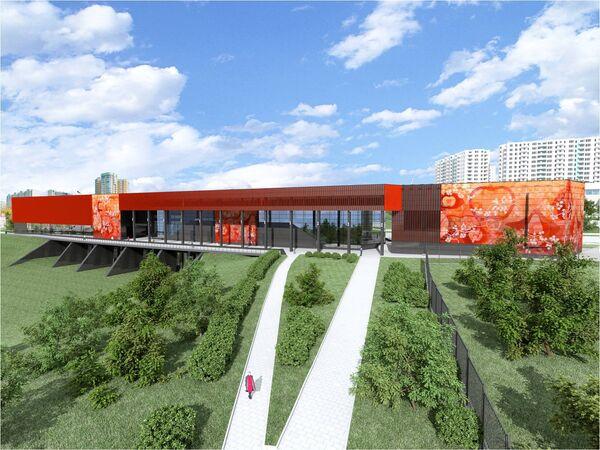Визуализация проекта станции Мичуринский проспект