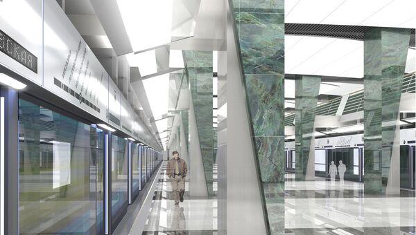 Визуализация проекта станции Петровский парк