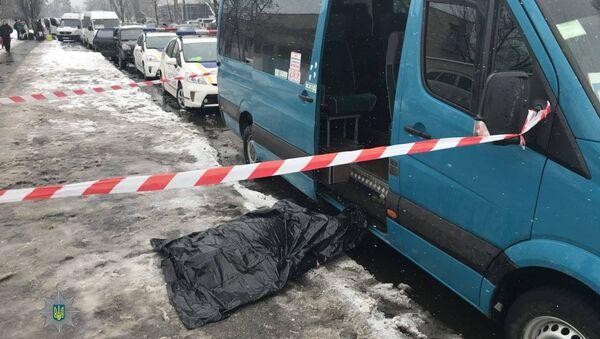 На месте убийства Руслана Юрченко в Киеве