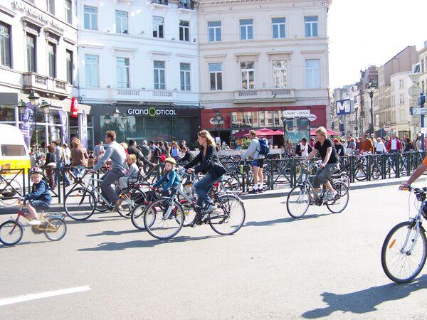 День без автомобиля в Бельгии. Архив