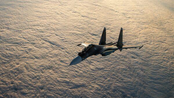 Многоцелевой истребитель Су-30СМ. Архивное фото