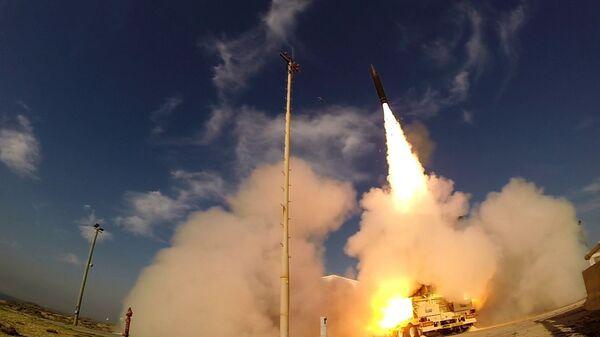 Испытания противоракетного комплекса Хец-3 (Стрела-3, Arrow-3)