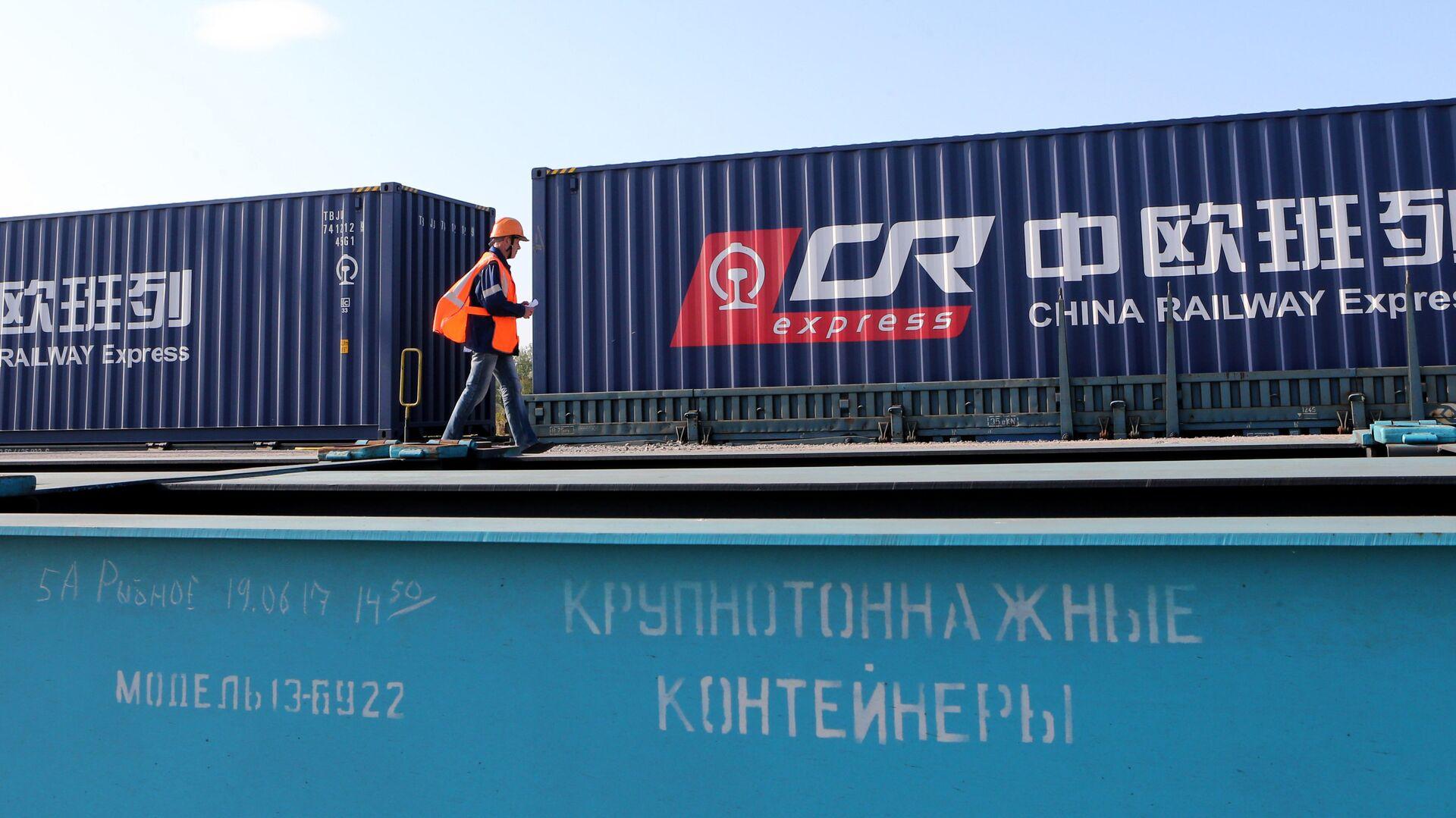 Первый комбинированный контейнерный поезд проехал транзитом через Калининградскую область из Европы в Китай - РИА Новости, 1920, 19.03.2020