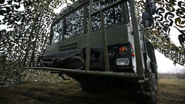 Оперативно-тактический ракетный комплекс (ОТРК) Искандер-М во время тактических учений. Архивное фото