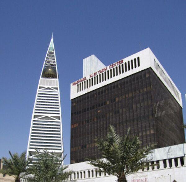 Вид города Эр-Рияд - столицы Саудовской Аравии.
