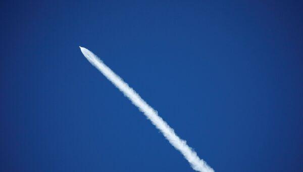 Старт ракеты Falcon 9 с испанским телекоммуникационным спутником Paz в Калифорнии. 22 февраля 2018