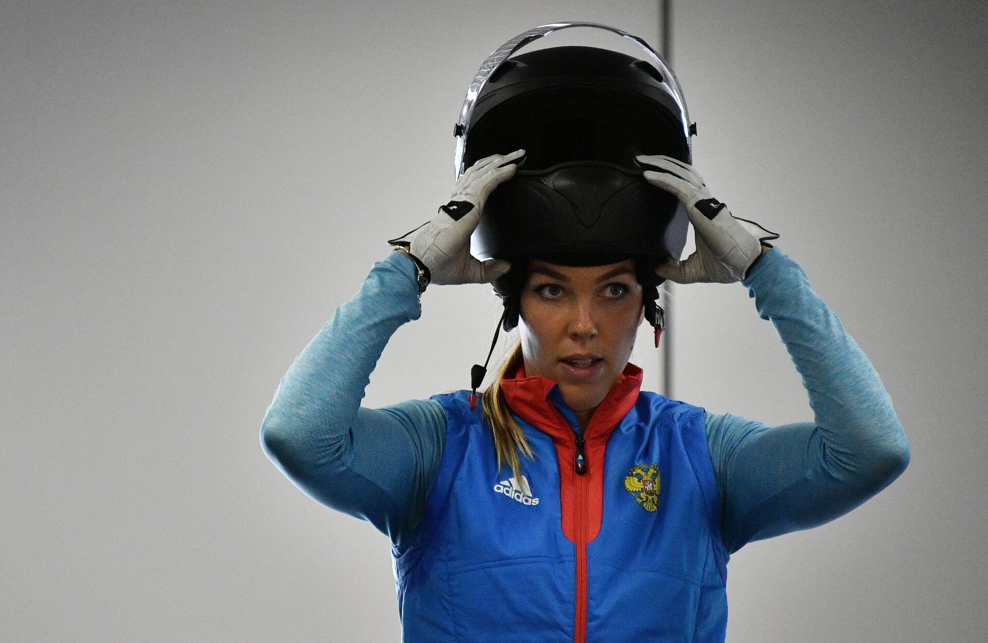 Надежда Сергеева во время тренировки  - РИА Новости, 1920, 14.02.2021
