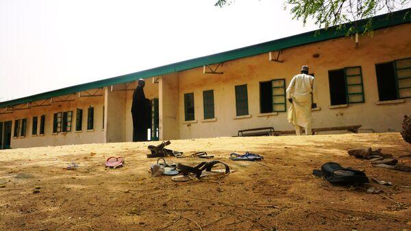 Здание школы в нигерийском штате Йобе, откуда были похищены 111 учениц