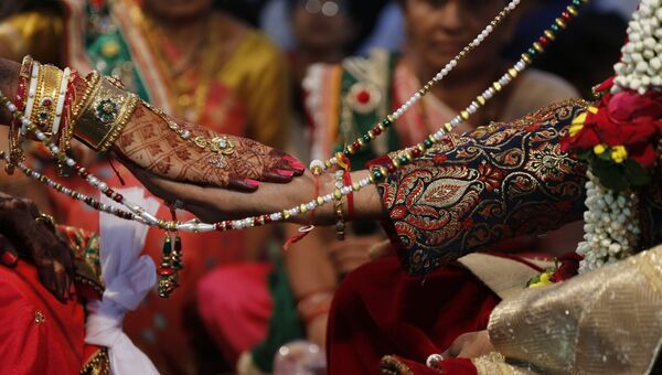 Свадебная церемония в Индии. Архивное фото
