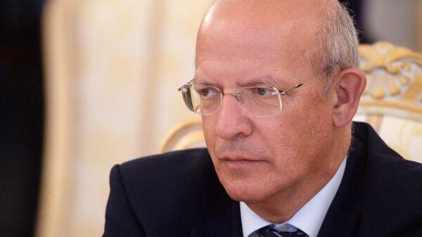 Министр иностранных дел Португалии Аугушту Сантуш Силва во время встречи с министром иностранных дел РФ Сергеем Лавровым в Москве
