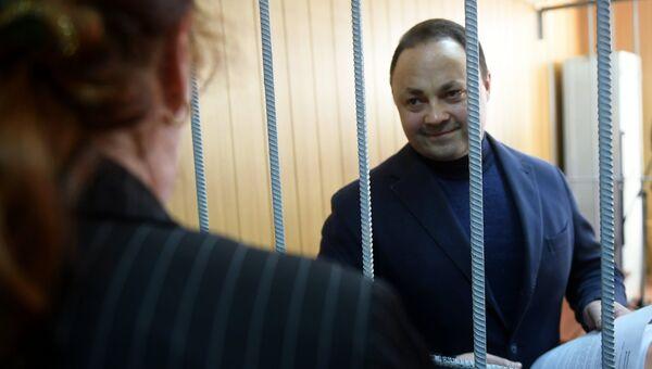 Бывший мэр Владивостока Игорь Пушкарев, обвиняемый во взяточничестве, в Тверском суде Москвы. 27 февраля 2018
