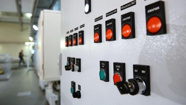Панель управления водоочистительными сооружениями. Архивное фото