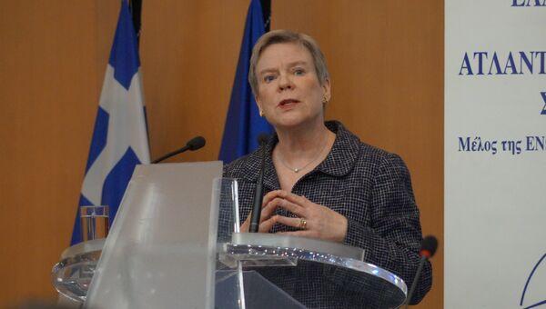 Во время выступления заместителя генерального секретаря НАТО Роуз Гетемюллер. Архивное фото