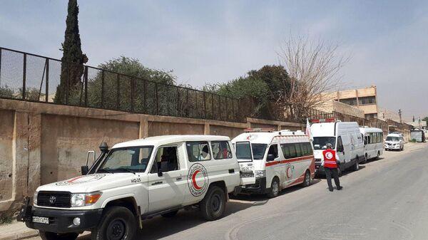 Район гуманитарного коридора в восточном пригороде Дамаска, Сирия. 4 марта 2018