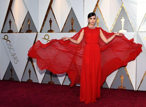 Американская актриса София Карсон перед церемонией вручения премии Оскар-2018