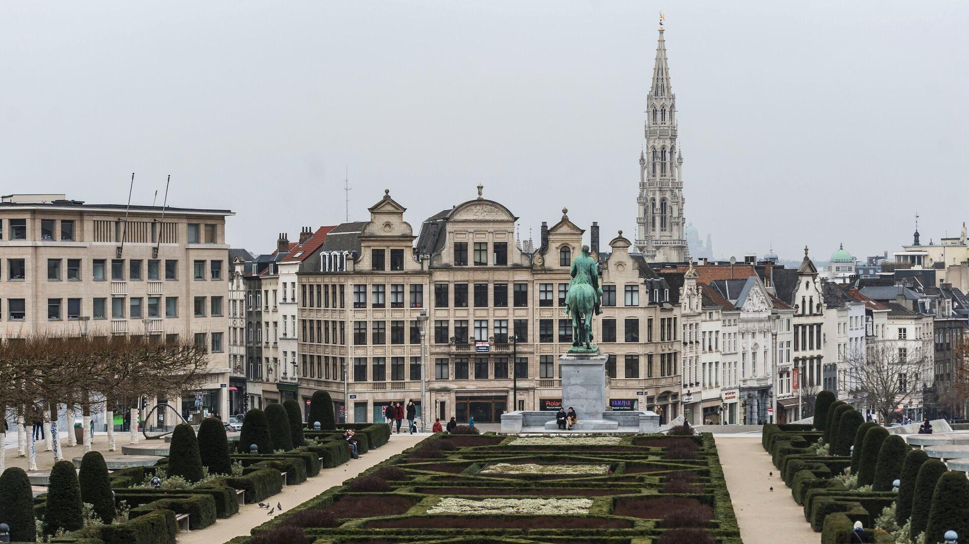 Вид на одну из улиц Брюсселя, Бельгия - РИА Новости, 1920, 19.11.2020