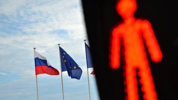Флаги России и ЕС