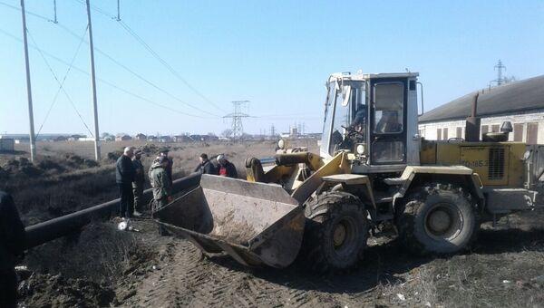 На месте прорыва газопровода в Дагестане