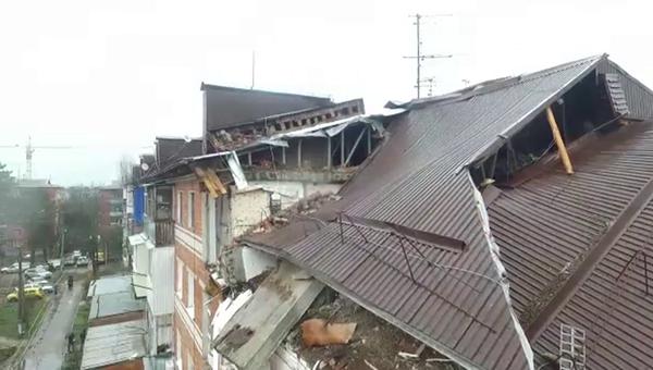 Последствия взрыва газа на Славянской улице в Краснодаре. 10 марта 2018