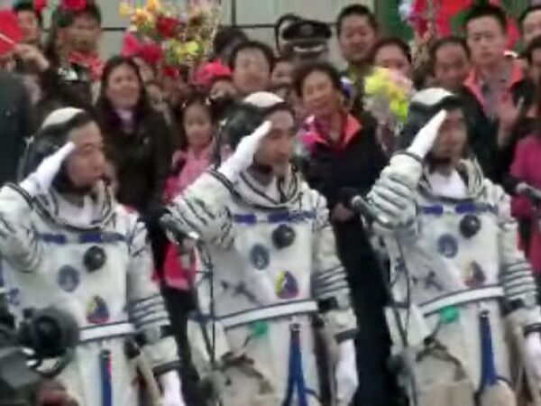 Китайские тайкунавты перед эпохальным стартом
