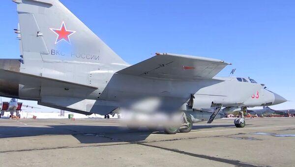 Экипаж истребителя МиГ-31 ВКС провел учебный пуск гиперзвуковой ракеты Кинжал