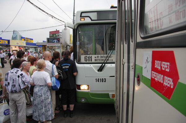 Работа общественного транспорта в Москве