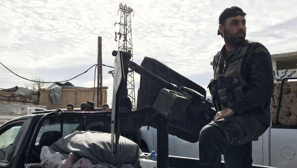 Сирийские военные в Восточной Гуте. 15 марта 2018