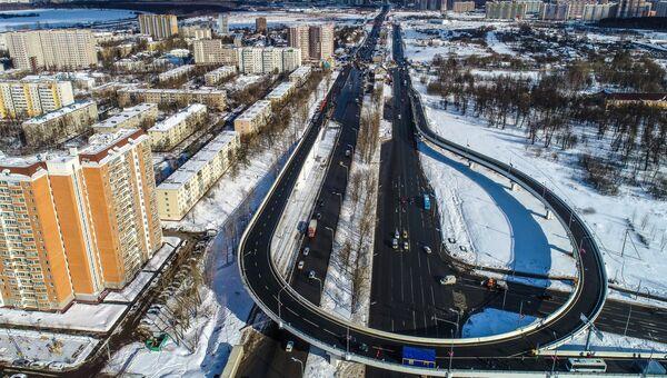 Новая эстакада через Варшавское шоссе в Щербинке. 16 марта 2018