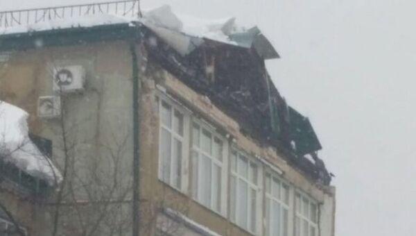 Обрушение части кирпичного фронтона одного из зданий Казанского авиационного завода. 16 марта 2018