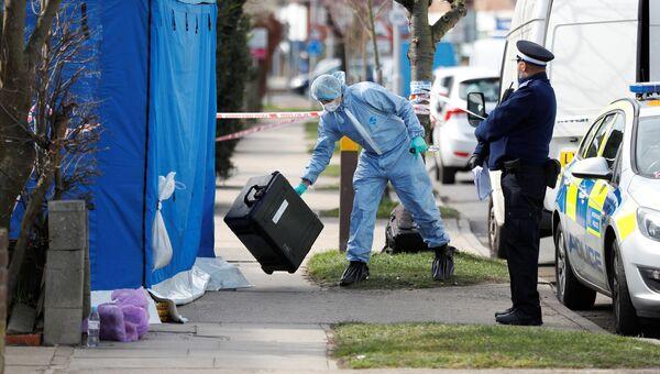 Полиция возле дома Николая Глушкова на окраине Лондона. Архивное фото
