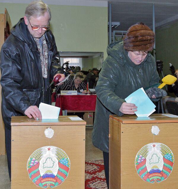 Голосование на выборах в Белоруссии. Архив