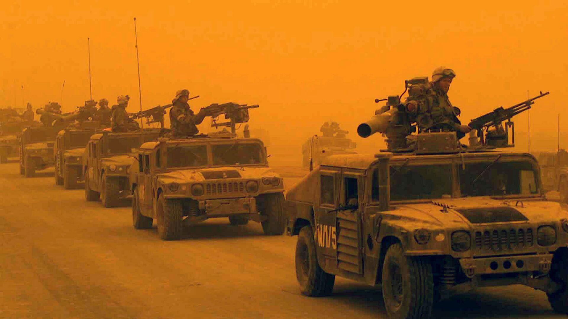 1-й разведывательно-дозорный батальон 1-й дивизии морской пехоты США в Ираке - РИА Новости, 1920, 17.11.2020