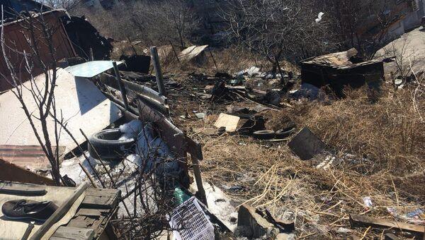 Пожар в приюте для бездомных во Владивостоке. 20.03.18
