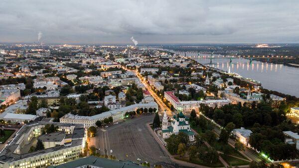 Город Ярославль и река Волга