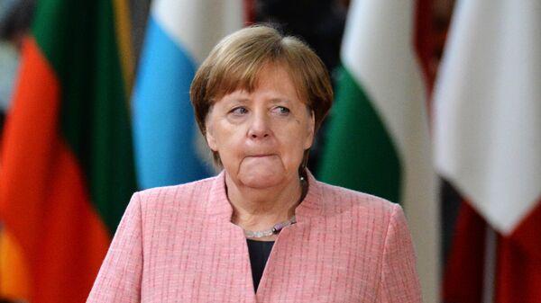 Канцлер Германии Ангела Меркель на саммите ЕС в Брюсселе. 22 марта 2018
