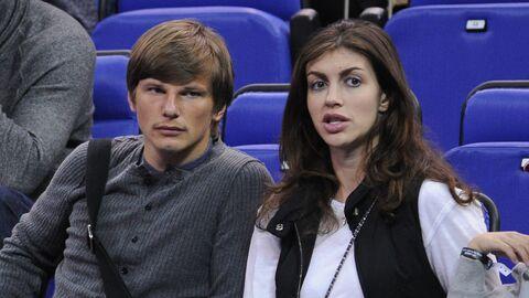 Российский футболист Андрей Аршавин с женой Алисой
