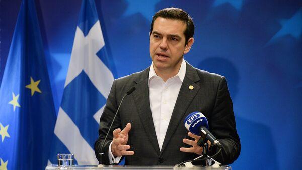 Премьер-министр Греции Алексис Ципрас на саммите ЕС в Брюсселе. 23 марта 2018